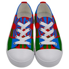 Gypsy Flag Kids  Low Top Canvas Sneakers
