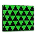 TRIANGLE3 BLACK MARBLE & GREEN COLORED PENCIL Canvas 20  x 16  View1