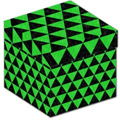 Triangle3 Black Marble & Green Colored Pencil Storage Stool 12