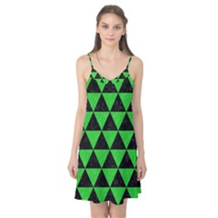 Triangle3 Black Marble & Green Colored Pencil Camis Nightgown