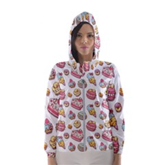 Sweet Pattern Hooded Wind Breaker (women)