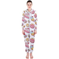 Sweet Pattern Hooded Jumpsuit (ladies)