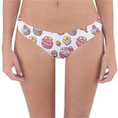 Sweet Pattern Reversible Hipster Bikini Bottoms