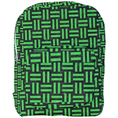 Woven1 Black Marble & Green Colored Pencil Full Print Backpack