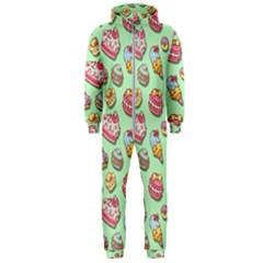 Sweet Pattern Hooded Jumpsuit (men)