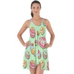 Sweet Pattern Show Some Back Chiffon Dress