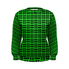 Woven1 Black Marble & Green Colored Pencil (r) Women s Sweatshirt