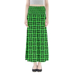 Woven1 Black Marble & Green Colored Pencil (r) Full Length Maxi Skirt