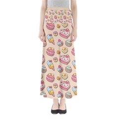 Sweet Pattern Full Length Maxi Skirt