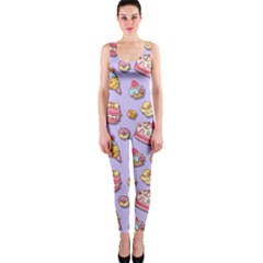 Sweet Pattern Onepiece Catsuit