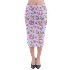 Sweet Pattern Midi Pencil Skirt