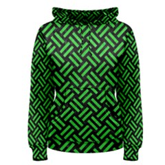 Woven2 Black Marble & Green Colored Pencil Women s Pullover Hoodie