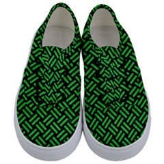 Woven2 Black Marble & Green Colored Pencil Kids  Classic Low Top Sneakers