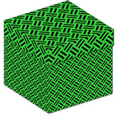 Woven2 Black Marble & Green Colored Pencil (r) Storage Stool 12