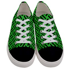 Woven2 Black Marble & Green Colored Pencil (r) Women s Low Top Canvas Sneakers