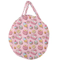 Sweet Pattern Giant Round Zipper Tote