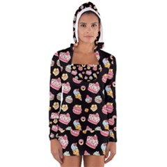 Sweet Pattern Long Sleeve Hooded T Shirt