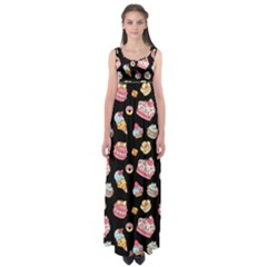 Sweet Pattern Empire Waist Maxi Dress