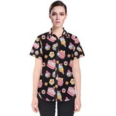 Sweet Pattern Women s Short Sleeve Shirt