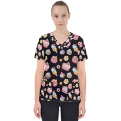 Sweet Pattern Scrub Top