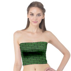 Brick1 Black Marble & Green Leather (r) Tube Top