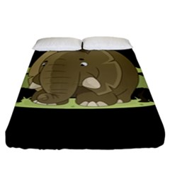 Cute Elephant Fitted Sheet (king Size)