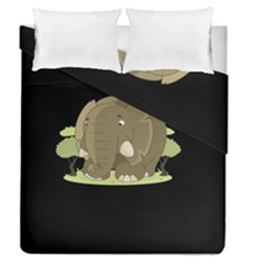 Cute Elephant Duvet Cover Double Side (queen Size)
