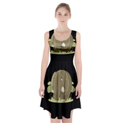 Cute Elephant Racerback Midi Dress