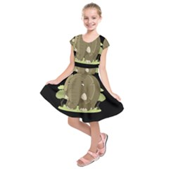 Cute Elephant Kids  Short Sleeve Dress