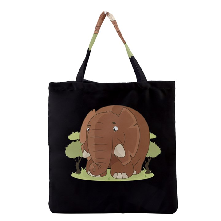 Cute Elephant Grocery Tote Bag