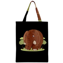 Cute Elephant Zipper Classic Tote Bag