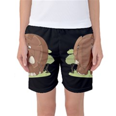 Cute Elephant Women s Basketball Shorts