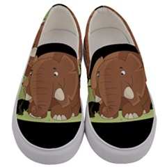 Cute Elephant Men s Canvas Slip Ons