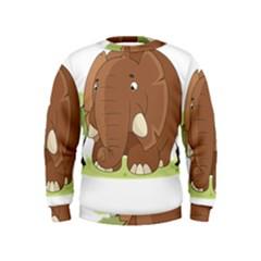 Cute Elephant Kids  Sweatshirt