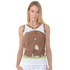 Cute Elephant Women s Basketball Tank Top