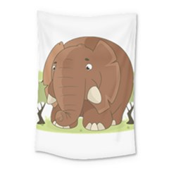 Cute Elephant Small Tapestry
