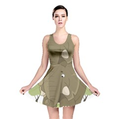 Cute Elephant Reversible Skater Dress