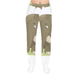 Cute Elephant Drawstring Pants