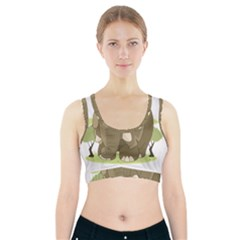 Cute Elephant Sports Bra With Pocket