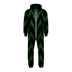 Chevron9 Black Marble & Green Leather Hooded Jumpsuit (kids)