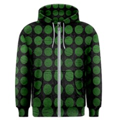 Circles1 Black Marble & Green Leather Men s Zipper Hoodie