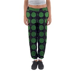Circles1 Black Marble & Green Leather Women s Jogger Sweatpants