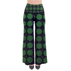 Circles1 Black Marble & Green Leather Pants