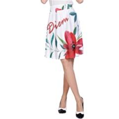 Carpe Diem  A Line Skirt