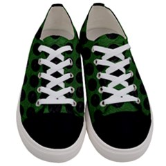 Circles1 Black Marble & Green Leather (r) Women s Low Top Canvas Sneakers