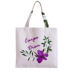 Carpe Diem  Zipper Grocery Tote Bag