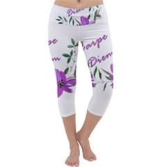 Carpe Diem  Capri Yoga Leggings