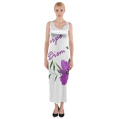 Carpe Diem  Fitted Maxi Dress