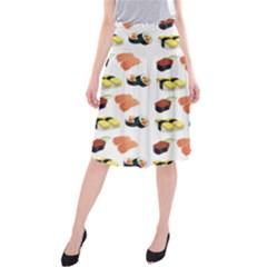Sushi Pattern Midi Beach Skirt