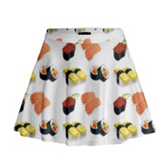 Sushi Pattern Mini Flare Skirt